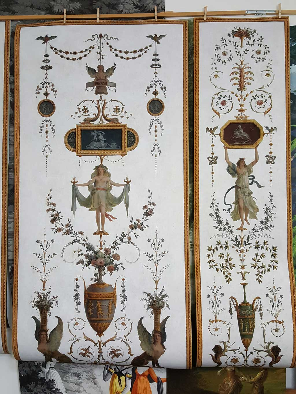 Grotesque Panel Xviiith Century Wallpaper 4 Papiers