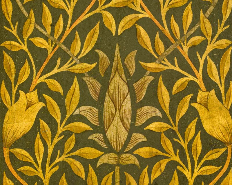 Antic wallpaper art craft by william morris papiers for Arts and crafts mural
