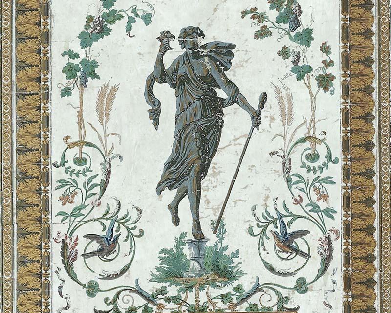 Antique wallpaper reveillon papiers de paris - Reveillon original paris ...
