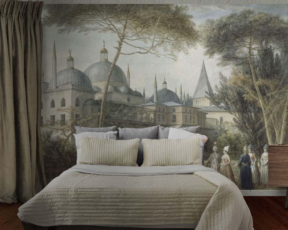 turkish scene wallpaper mural papiers de paris. Black Bedroom Furniture Sets. Home Design Ideas