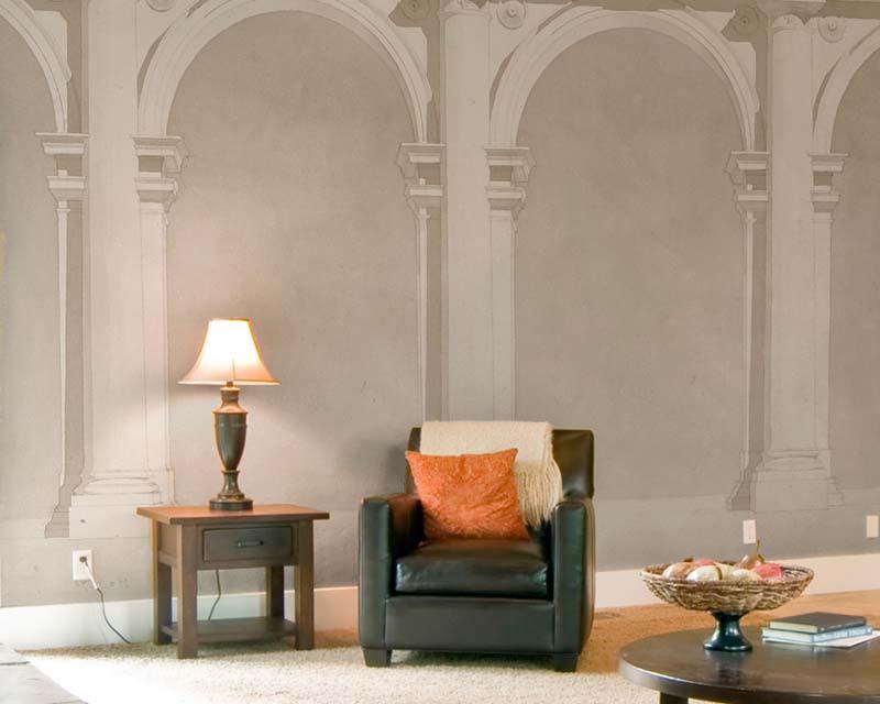 scenic wallpaper mural roman column papiers de paris. Black Bedroom Furniture Sets. Home Design Ideas