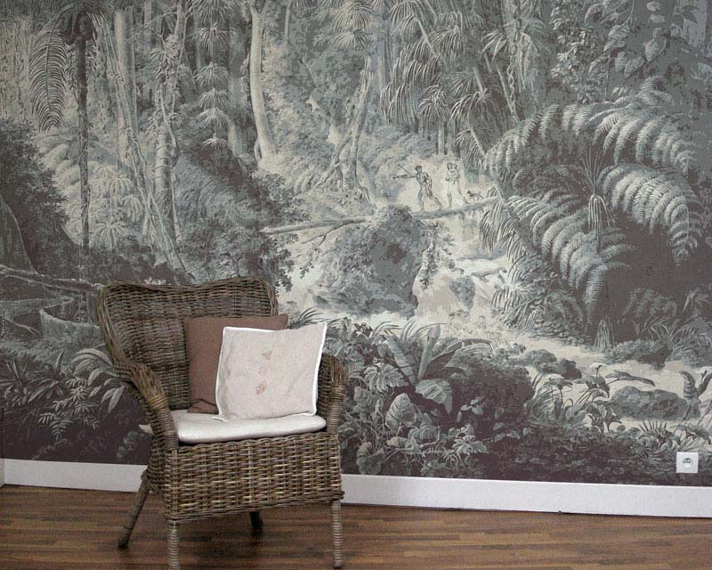 scenic wallpaper brasilian rainforest papiers de paris. Black Bedroom Furniture Sets. Home Design Ideas