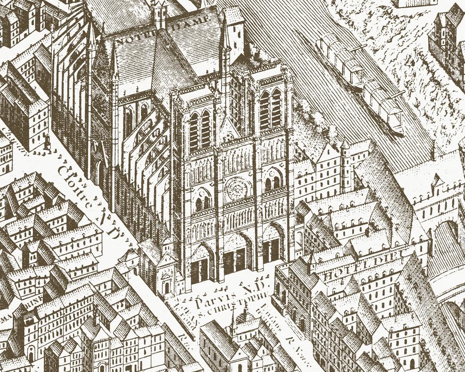 scenic wallpaper mural paris map 1739 papiers de paris