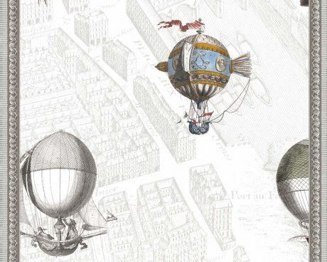 New wallpaper mural - Ballooning over Paris