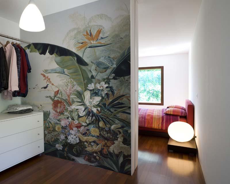 carta da parati panoramica fiore esotico papiers de paris. Black Bedroom Furniture Sets. Home Design Ideas