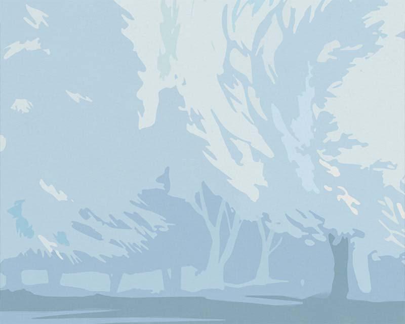 carta da parati panoramica giardino francese papiers de