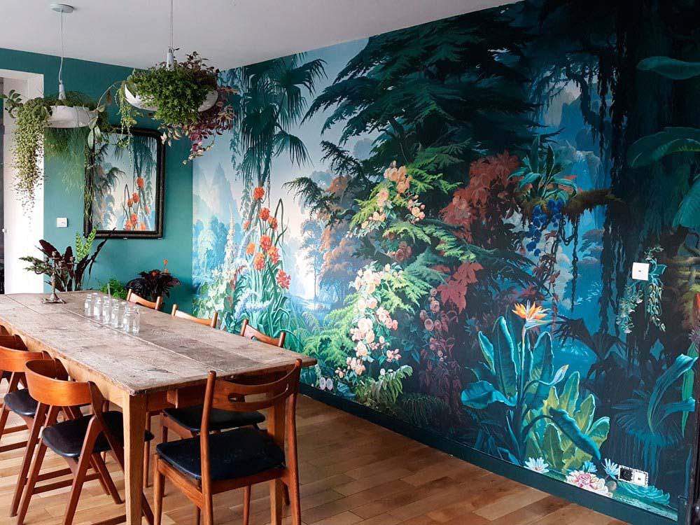les papiers peints panoramiques du mus e des arts. Black Bedroom Furniture Sets. Home Design Ideas