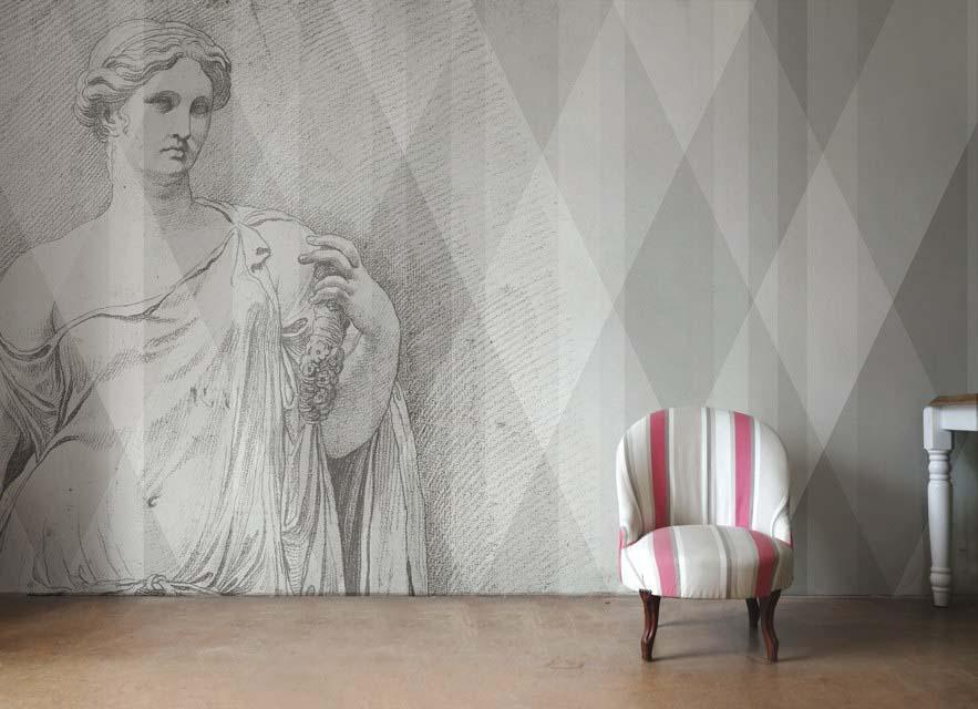 Papiers peints aux designs contemporains