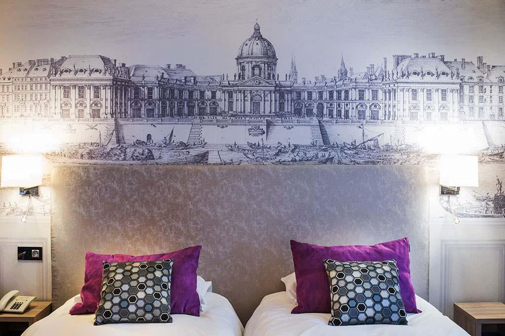 Papiers peints têtes de lit pour l'Hôtel Harvey