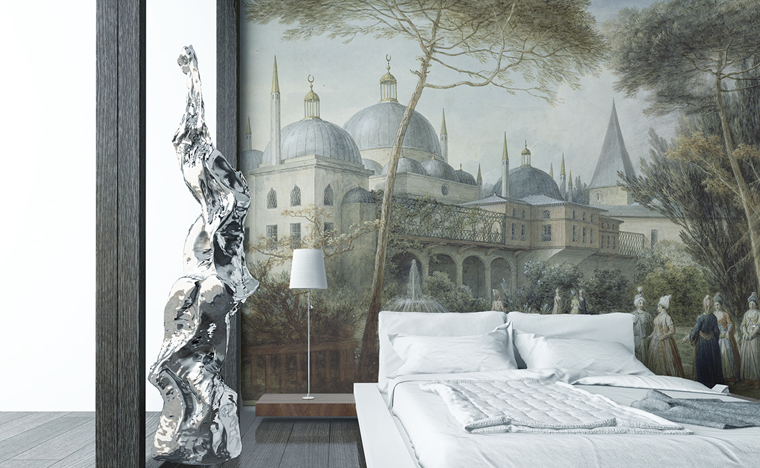 des papiers peints panoramiques pour la chambre coucher papiers de paris. Black Bedroom Furniture Sets. Home Design Ideas