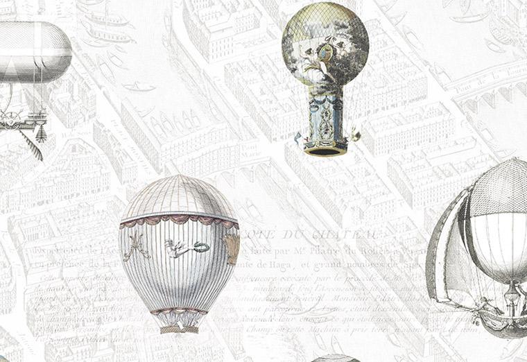Ballooning wallpaper