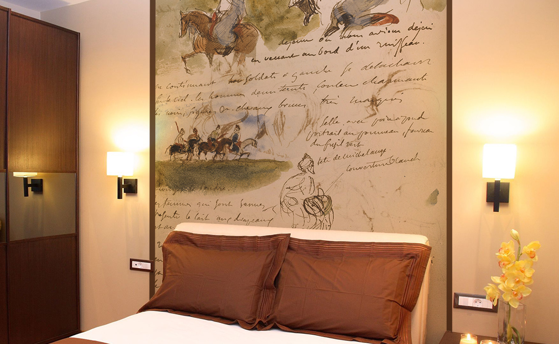 Bed head wallpaper papiers de paris - Idee deco tete de lit ...