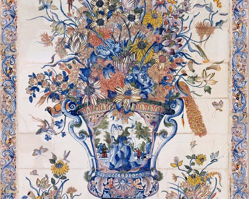 Panneau d coratif 108 carreaux de fa ence papiers de paris - Papier peint panneau decoratif ...
