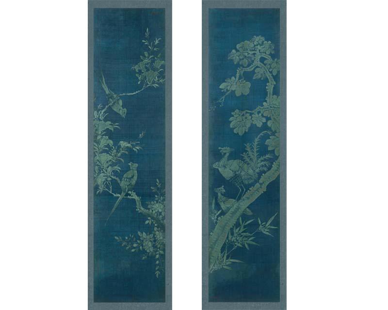 Panneaux d coratifs japonais 19eme si cle papiers de paris - Panneaux de bois decoratifs ...