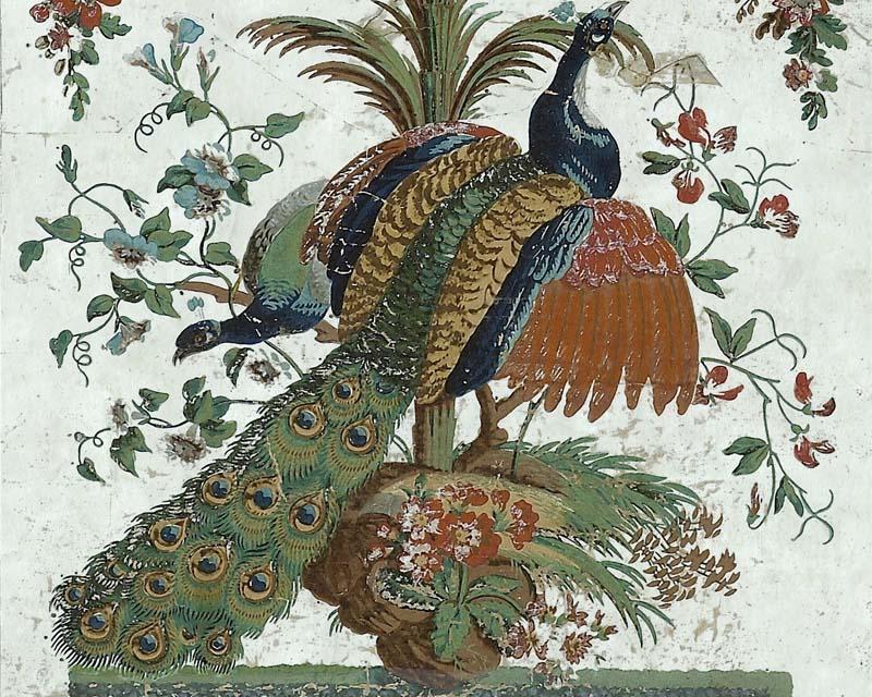 Panneau arabesque en papier peint reveillon 18eme siecle for Decoration 18eme siecle