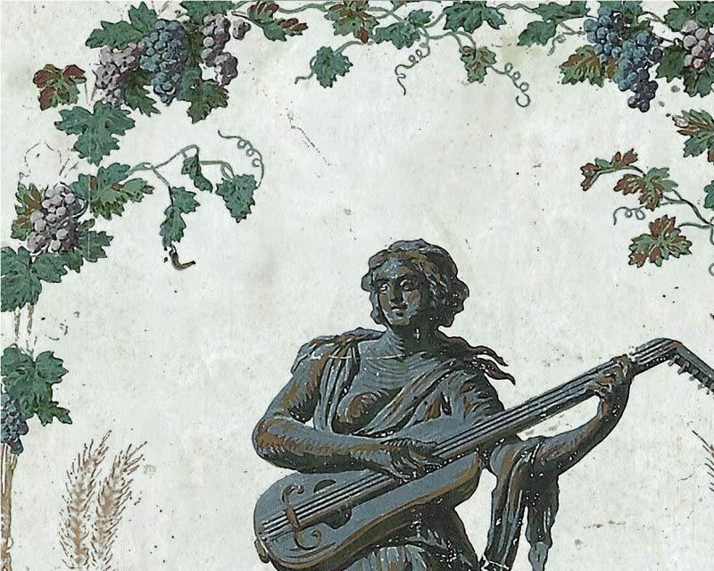 Panneau arabesque en papier peint reveillon 18eme siecle - Papier peint panneau decoratif ...