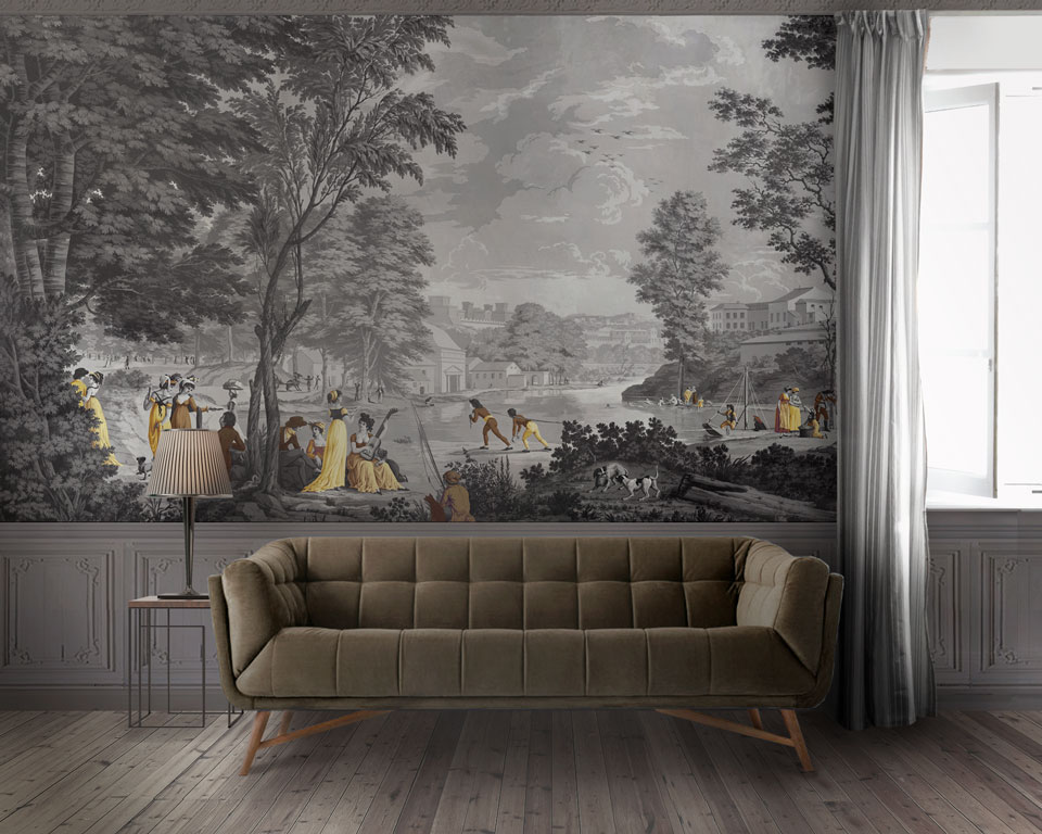 stunning papier peint panoramique paysage images. Black Bedroom Furniture Sets. Home Design Ideas