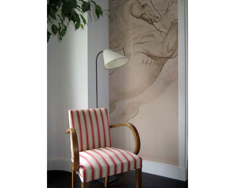 papier peint l unique chevaux du japon papiers de paris. Black Bedroom Furniture Sets. Home Design Ideas