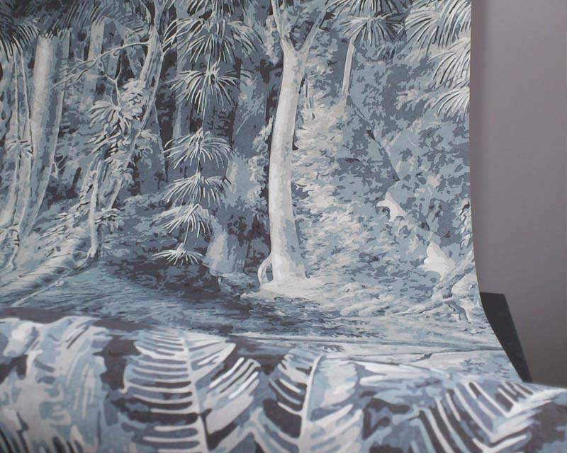 Papier peint turquoise leroy merlin rennes renovation d - Papier peint salle de bain pas cher ...