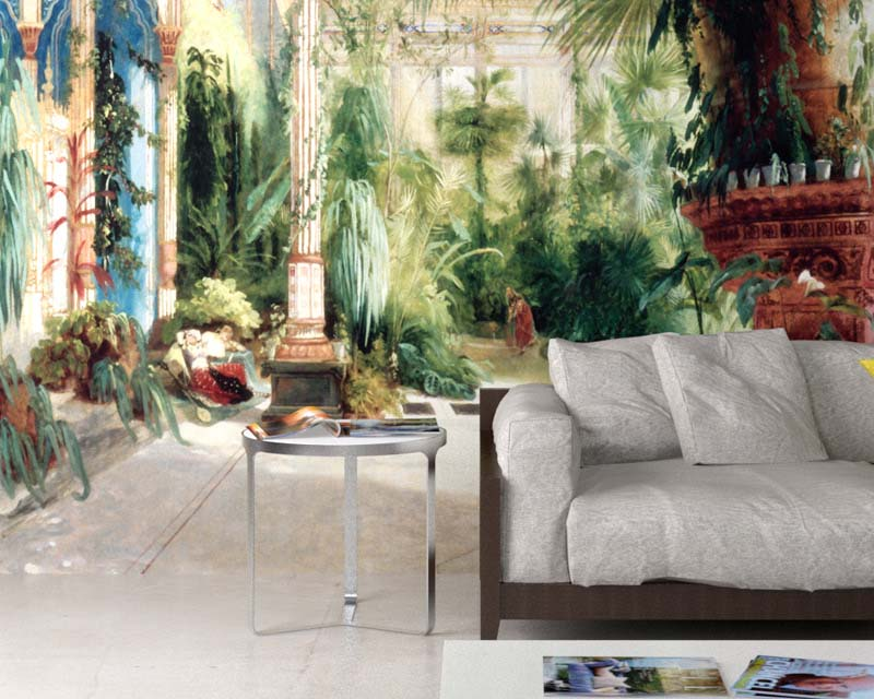 papier peint panoramique la palmeraie carl blechen papiers de paris. Black Bedroom Furniture Sets. Home Design Ideas