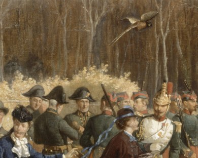 Scène de chasse - Papier peint