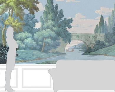 Paysage français - Papier peint