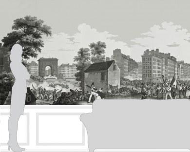 La révolution de 1830 - Papier peint