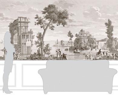 Les Vues d'Italie - papier peint panoramique