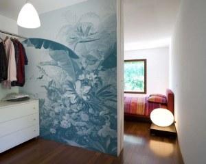 Fleurs exotiques - Papier peint