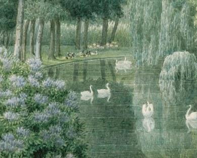 Lac des cygnes - Papier peint