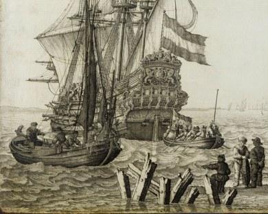 Marine en Grisaille - Papier peint