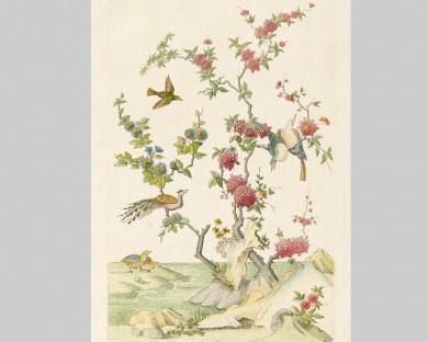 Oiseaux Chinois - Papier peint