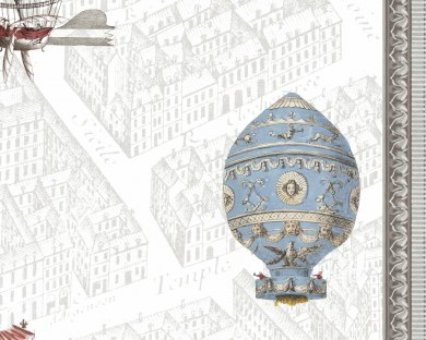 Montgolfières 3/5 - Panneau décoratif