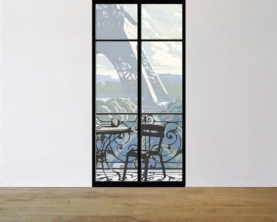 Fenêtre sur Tour Eiffel N°2  - Papier peint