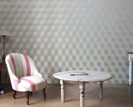 papier peint panoramique design carreaux anciens et effets lumineux papiers de paris. Black Bedroom Furniture Sets. Home Design Ideas