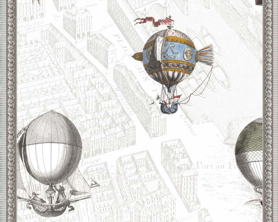 New wallpaper mural - Ballooning over Paris