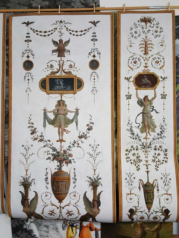 Grotesque Panel Xviiith Century Wallpaper 4 Papiers De Paris