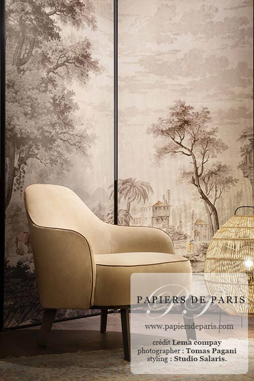 Eastern Scenes Antique Grisaille Wallpaper Papiers De Paris