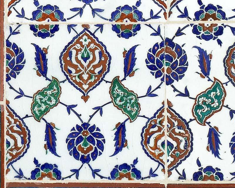 Scenic Wallpaper Mural Antique Oriental Ceramic Tiles Papiers De