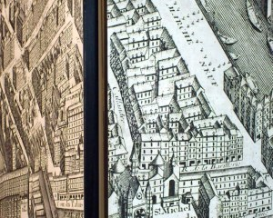 Screen - Paris map 1739
