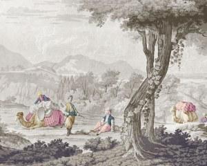 Easter Scenes -  antique wallpaper