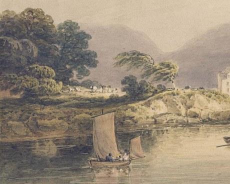 Irish lake - Wallpaper mural