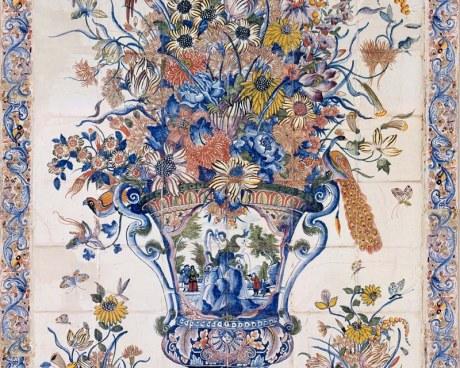 Earthenware vase - Decorative Panel