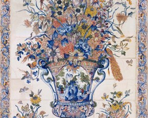 Earthenware vase - Decorative Panel