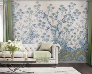 Japanese decor - antique wallpaper
