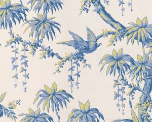 Japanese decor - antique wallpaper