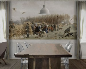 Hunting party - Wallpaper mural