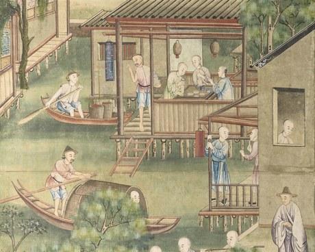 Chinese wallpaper N°1 - Decorative Panel