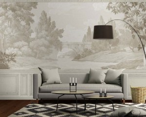French Landscape - Wallpaper mural
