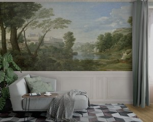 Antique landscape - Wallpaper mural